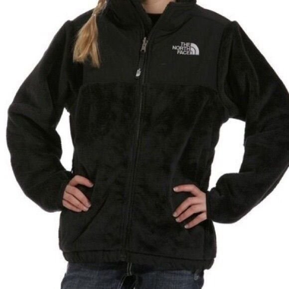 Fuzzy north face zip up fleece Black fuzzy north face zip up fleece in size small. Worn many times but still soft and has little pilling from washing and no tears or holes! Great condition North Face Jackets & Coats Puffers