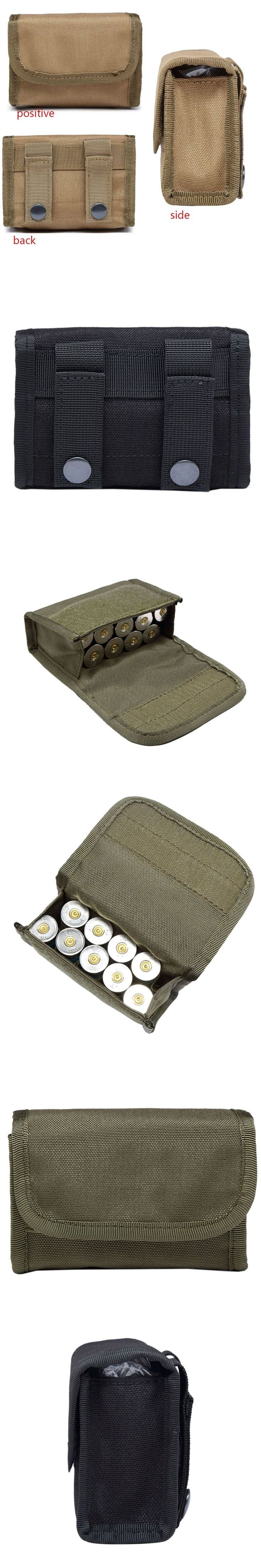 12 Gauge/20G Magazine Pouch Ammo Round Cartridge Holder Tactical 10 Round Shotshell Reload Holder Molle Pouch Tactical Bag