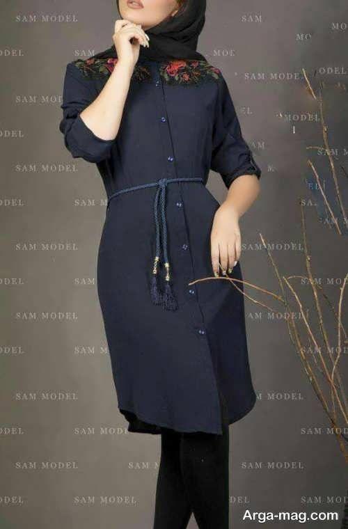 مدل مانتو بلند اسپرت 2018 Iranian Fashion Long Blouse