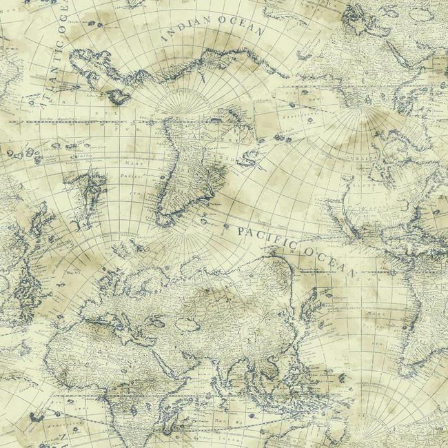 Armchair Travelers Can Have The World At Their Fingertips With This Compelling Coastal Map Wallpaper