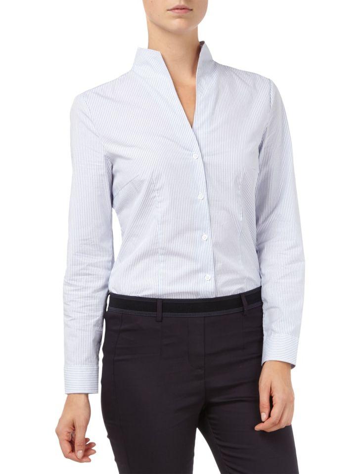 CHRISTIAN-BERG-WOMAN Bluse mit Streifen- und Punktemuster in Blau / Türkis online kaufen (9496827) | P&C Online Shop