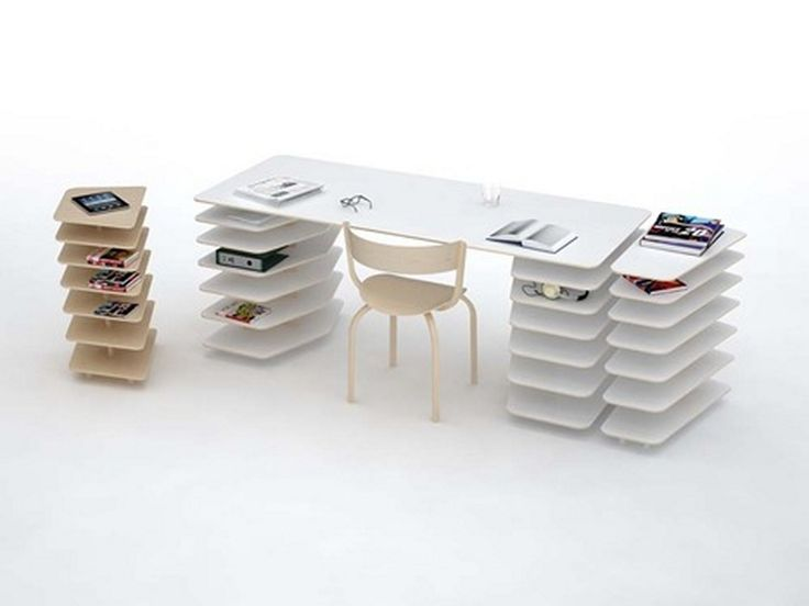 office desk and shelving in one strates system by mathieu lehanneur home design inspiration