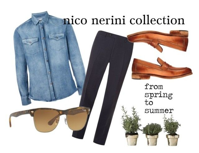 """from spring to summer"" by nico-nerini on Polyvore featuring Brunello Cucinelli, Canali, Skultuna, Ray-Ban, men's fashion e menswear"