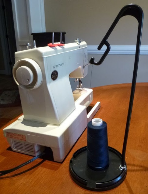 Cómo hacer un soporte para el hilo en cono grande y poder usarlo en la máquina de coser.