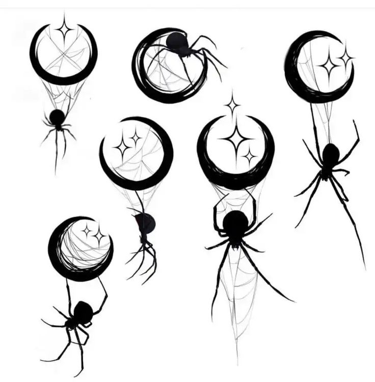 могли картинки с пауками для тату разберёмся