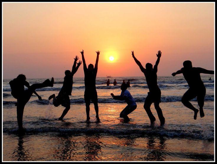 Friends enjoying on Beach Photography