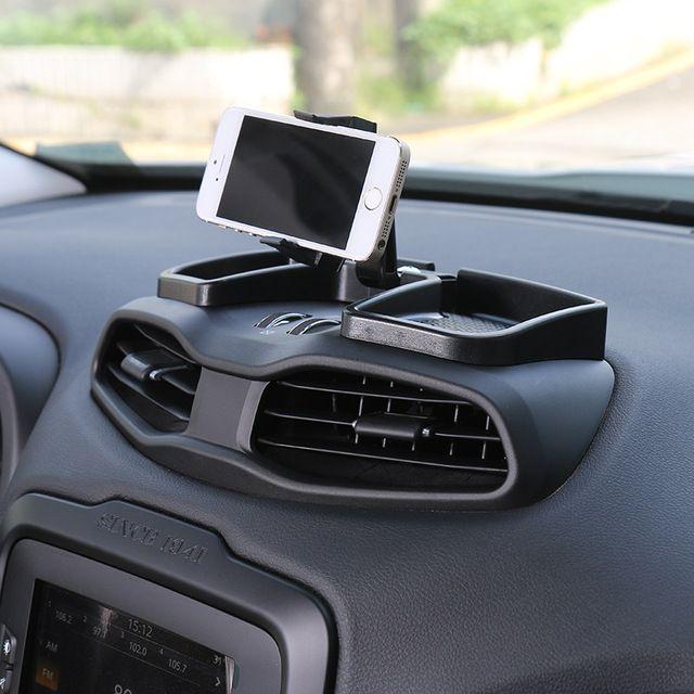 Nouveau Style Noir Universel De Voiture Support de Téléphone Mobile Stand Réglable Support de Téléphone De Voiture Montage pour Jeep Renegade 2015 up