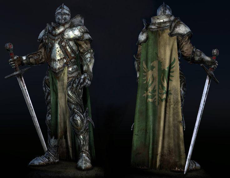 knight  (style   Dark souls ), Denis Korystin on ArtStation at https://www.artstation.com/artwork/XPoVl