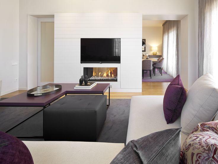 Molins Interiors // arquitectura interior - interiorismo - decoración salón - sala de estar - chimenea
