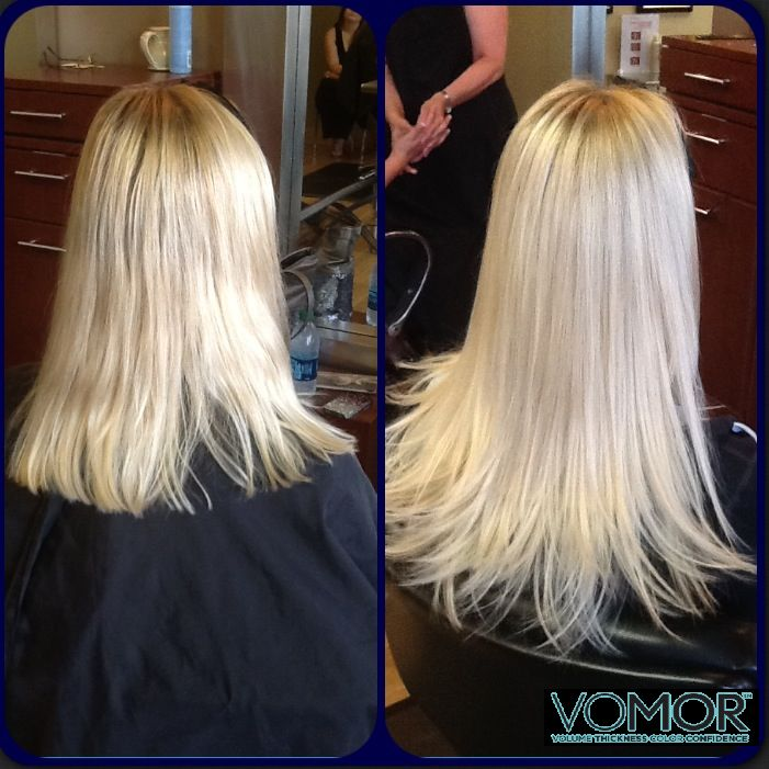 Pin by VoMor Hair Extension System on Before and After