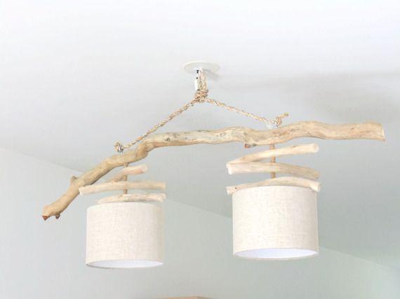 Les 25 meilleures id es de la cat gorie lustre en bois for Lustre double suspension