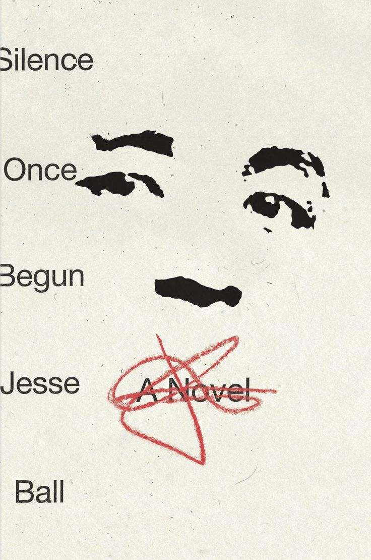 Illustrator Peter Mendelsund designed his simple yet harrowing book cover for Jesse Ball's Silence Once Begun.