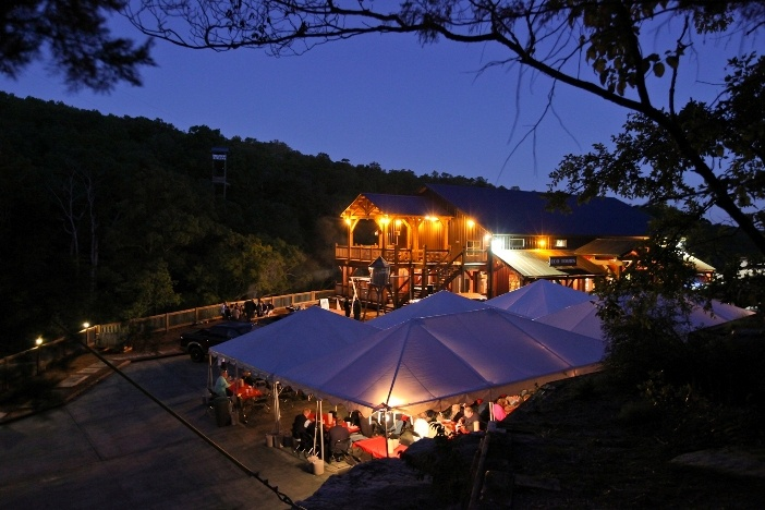 What a beautiful evening for a party at Branson Zipline at Wolfe Creek Preserve.