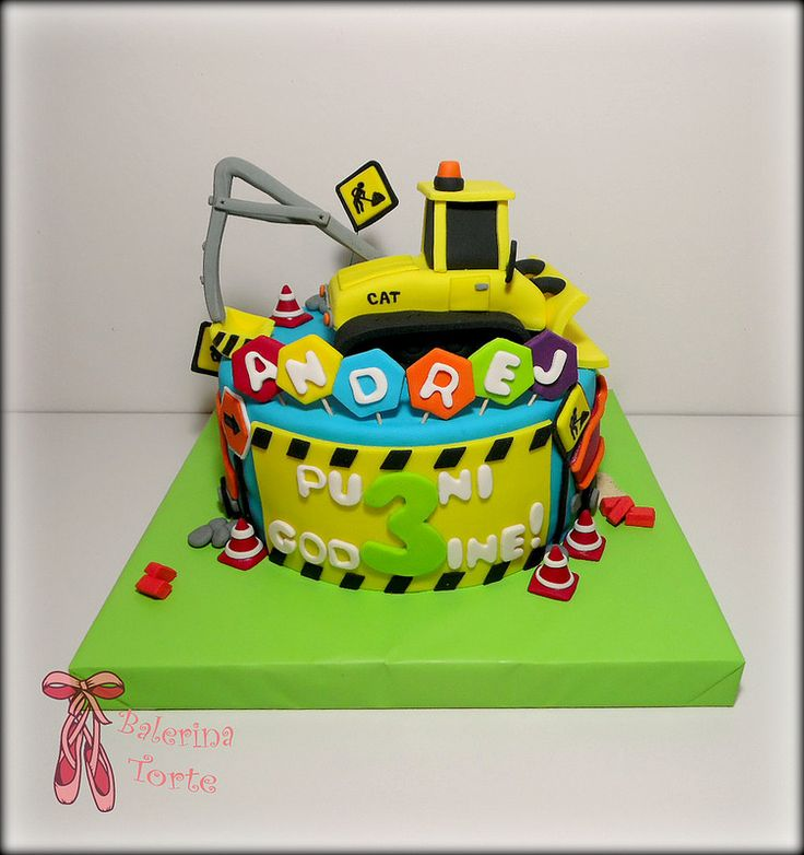 Caterpillar construction cake - Bager torta by Balerina Jagodina