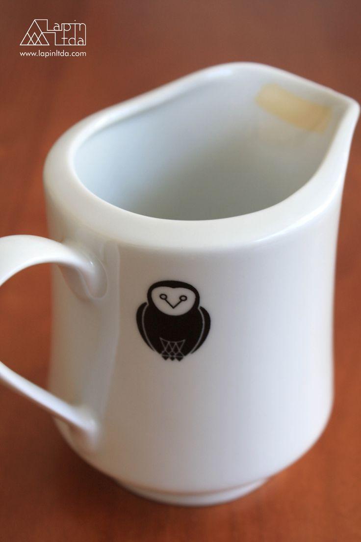 leiteira, coruja, porcelana, kawaii, owl, porcelain