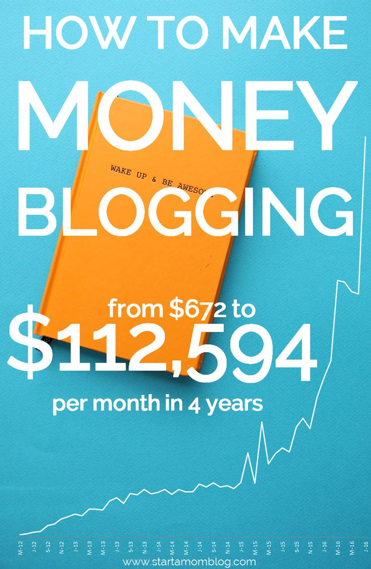How to Make Money Blogging from 6 Small, Medium and Large Mom Bloggers - They make $3K to $63K a month - And the best way to make money with a blog is to...