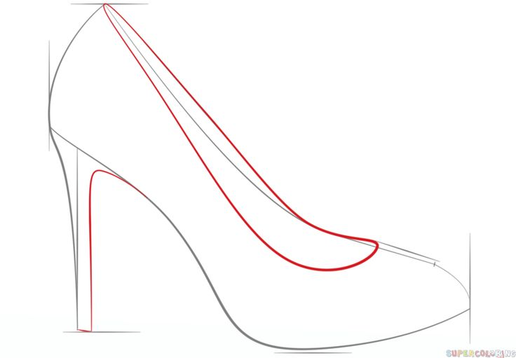 How To Draw Heels Step By Step
