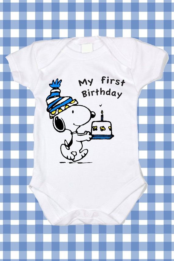 NEW Custom Snoopy Birthday My first Birthday by DittoXpression