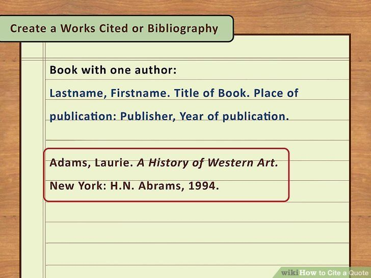 4 Easy Way To Cite A Quote With Picture Wikihow Book Quotes How Paraphrase And In Mla