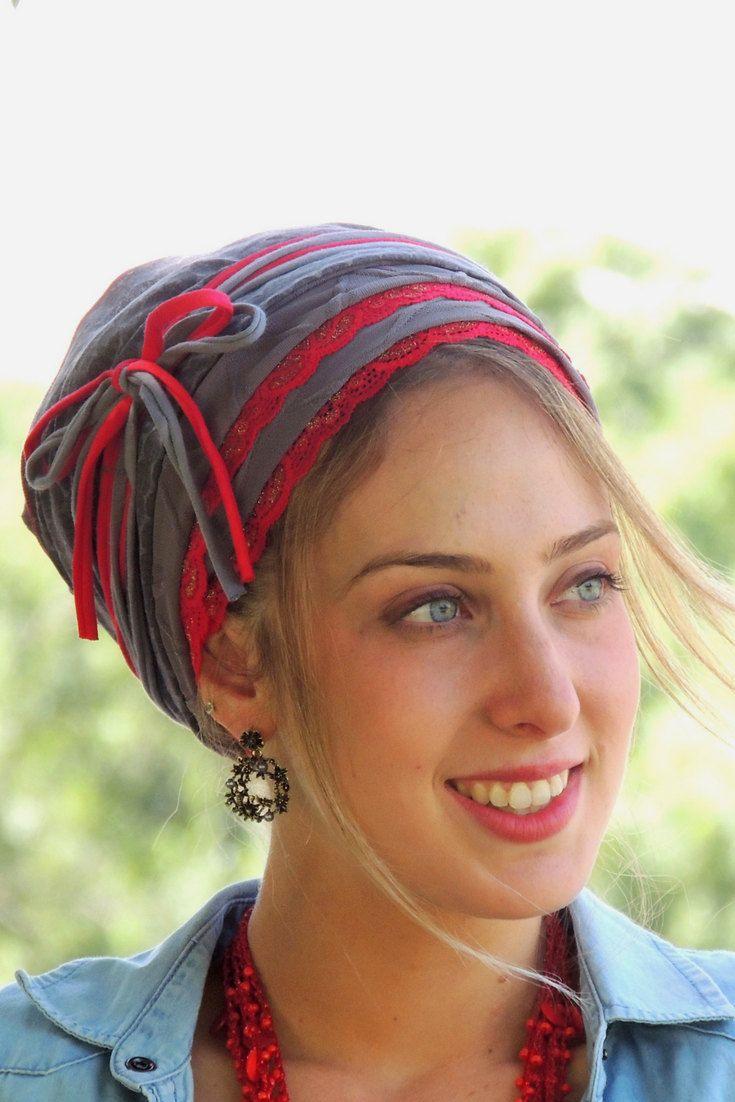 Amazing Grey Red Laces Tichel, Hair Snood, Head Scarf,Head Covering,jewish headcovering,Scarf,Bandana,apron http://etsy.me/2CyAhG1 #accessories #scarf #red #gray #chrisiancovering #jewishhaircovering #hairsnood #tichel#saraattali#headscarf