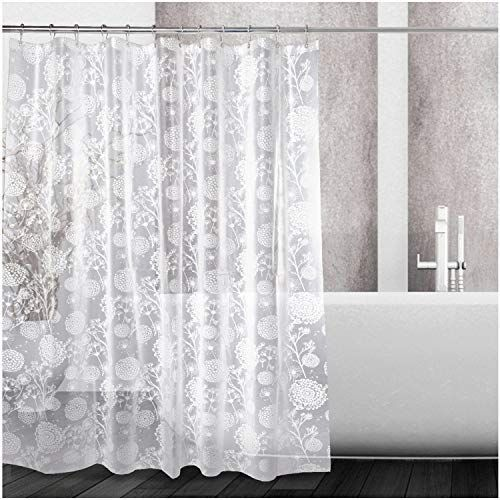 Kilokelvin Shower Curtain Dandelion Pattern Heavy Duty 100 Peva