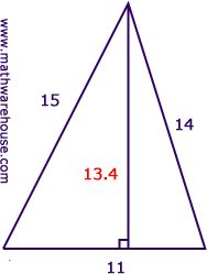 Area of a Triangle Formula, Examples, Pictures and Practice Problems. The first step to find area is..