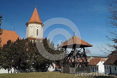 Wooden bell tower, Saint Nicholas Church Biserica Sfantul Nicolae, Romania, Transylvania, Brasov, Schei