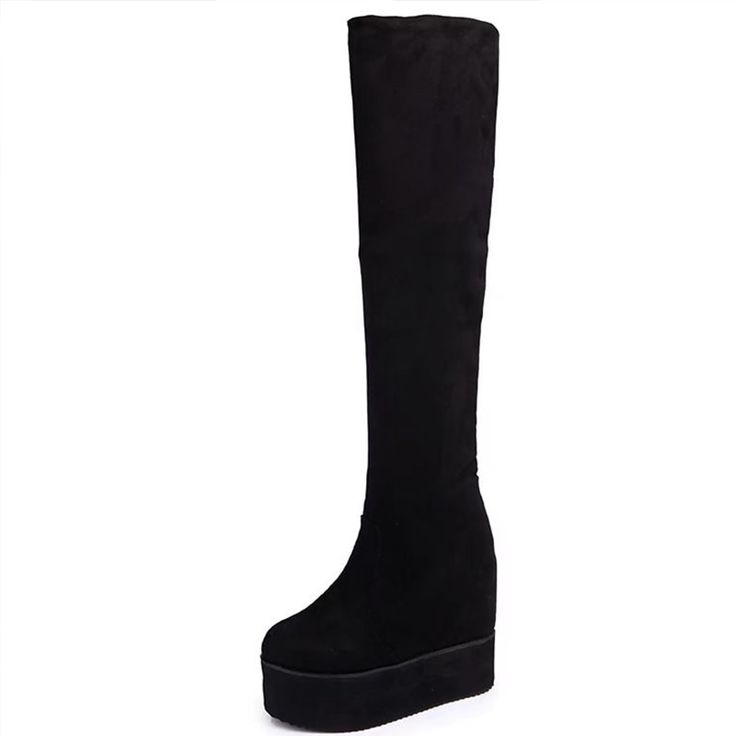 Moxxy Thigh High Boots Suede Platform Winter <b>Boots Women Over</b> ...
