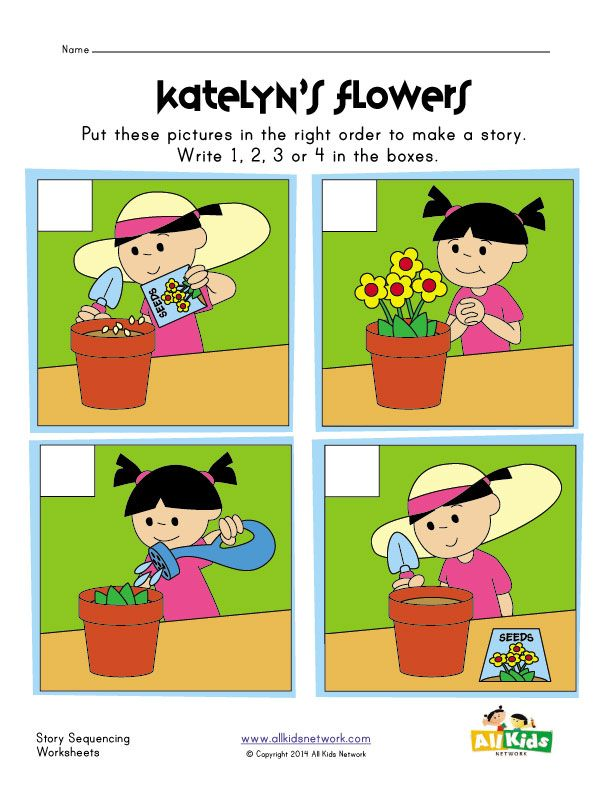 Worksheets Sequencing Skills Worksheets Preschool 1000 ideas about sequencing pictures on pinterest k 1 worksheet planting flowers