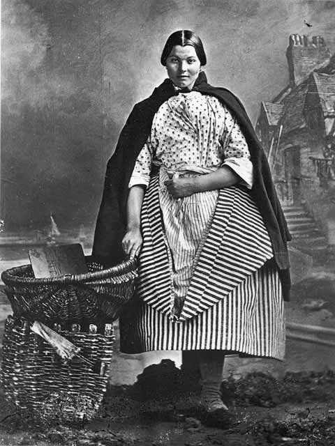 Newhaven Fishwife - Photograph by Begbie.  Her expression...I love this picture.