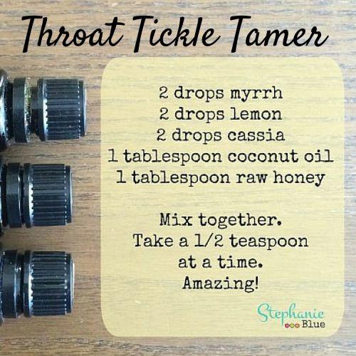 Throat Tickle Tamer w/ Essential Oils - Stephanie Blue