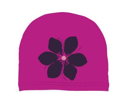 girls: flower on magenta