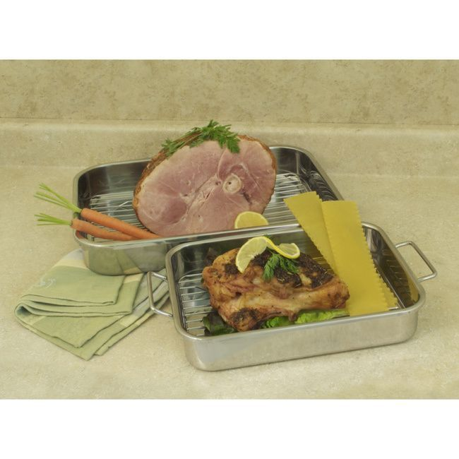 Between these two pans and racks you can make everything from multi-layered lasagas to your favorite roast. The stainless steel handles ensure safe extraction from the oven to the serving table.