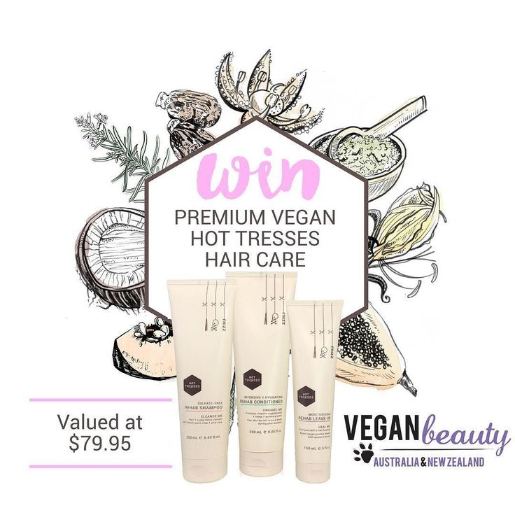 ACCEPTING ENTRIES UNTIL 5PM TONIGHT Winners will be selected independently by administrators of Vegan Beauty Australia & NZ and announced this week!  To celebrate the amazingly supportive and informative FB Group 'Vegan Beauty Australia & NZ' reaching more than 5k followers Hot Tresses is giving away our full beautifully scented REHAB range (shampoo conditioner leave-in valued at $99) to two lucky winners.  To enter simply: 1) Follow @hottress.es  2) Repost this picture with the hashtags…