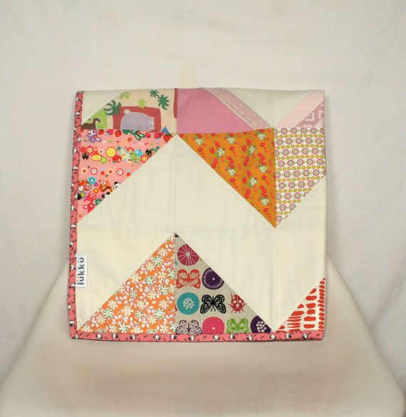 Modern handmade baby quilt by Lukku on Etsy, $159.00