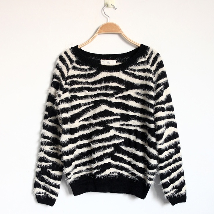 $25 Zebra Sweater