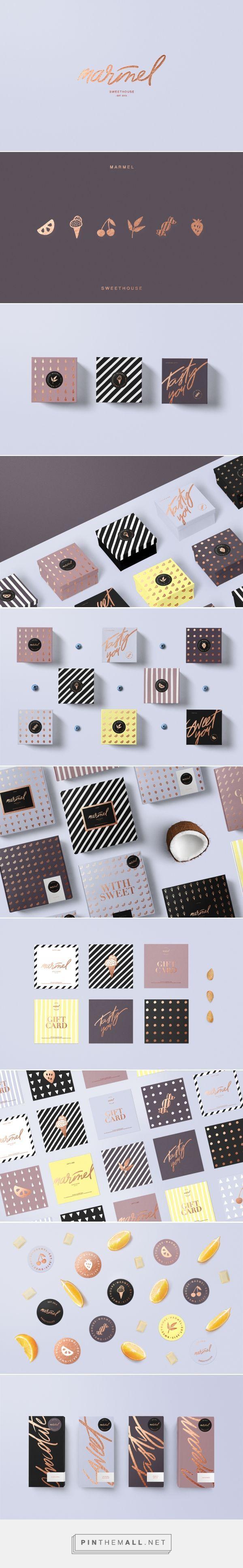 Marmel / Verpackung für Süßwarenladen von Diana Polar. Wenn Sie UX, Design oder Design Thinking mögen, besuchen Sie theuxblog.com