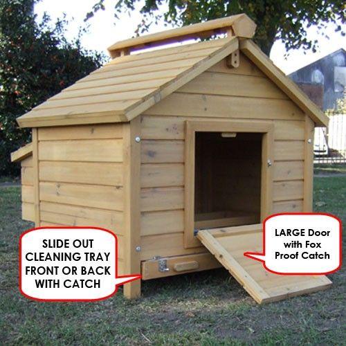 Duck Coops | Duck Coop Egg House Waterfowl Coop 4 Bird Duck Home - Feel Good UK