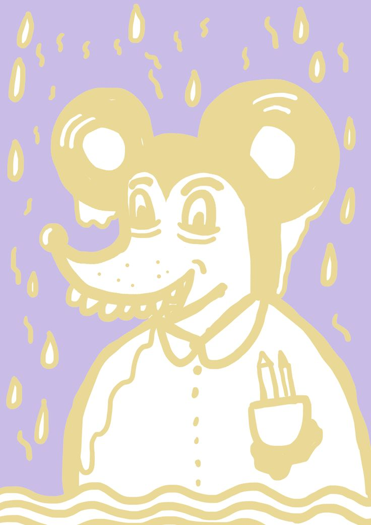 mickey mouse in the rain