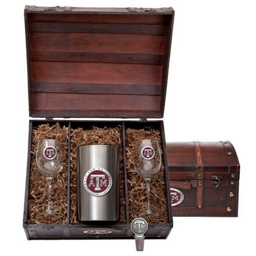 Texas A&M Aggies Team Logo Wine Gift Set
