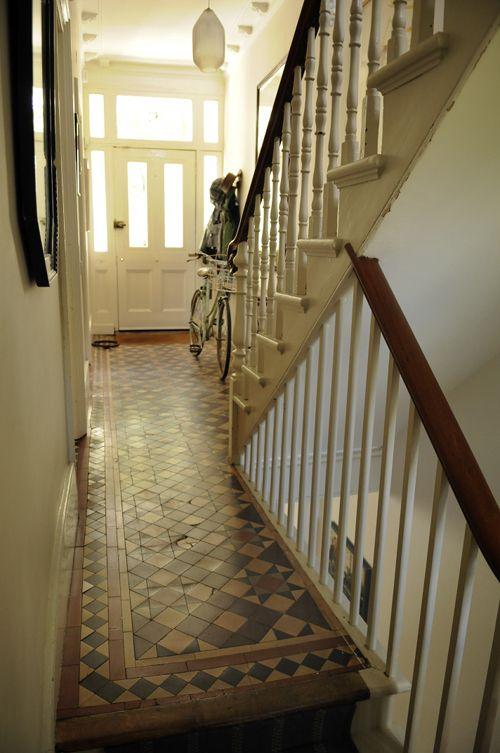 Tiles. Could paint similar on front porch.  - Esther Boulton