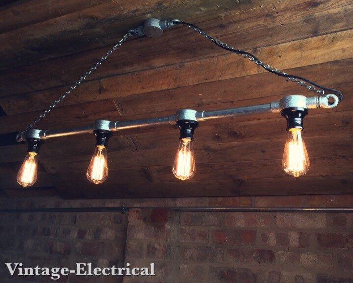 Hanging Industrial Steampunk Style Light Ceiling Dinning Room Office  Kitchen Table Vintage Edison Filament Lamps Pendant
