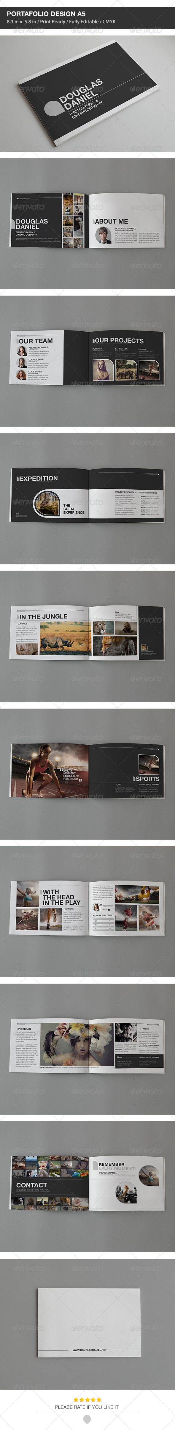 DD Portfolio Design A5  #GraphicRiver         DD Portfolio Design A5 is a personal portfolio template, is a unique way of showcasing your work in a magazine style. You can insert Your own
