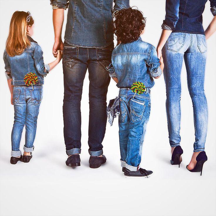 Фотосессия с детьми в джинсовом стиле