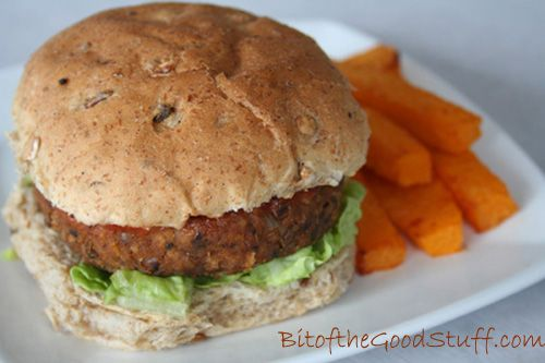 Black Eye Bean Burgers #Vegan #Glutenfree Option | Bit of the Good Stuff  These burgers have great flavour & texture, and are SO easy to make!