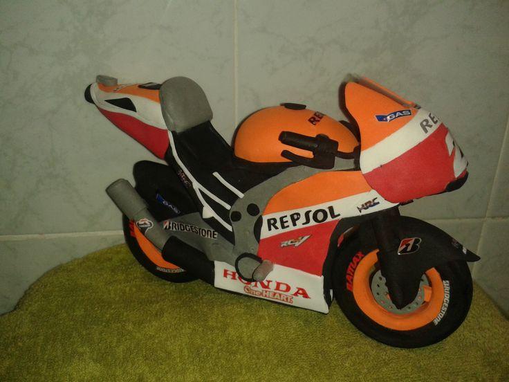 Moto Dani Pedrosa en goma eva 4