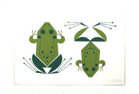 Charley Harper Frog Illustration