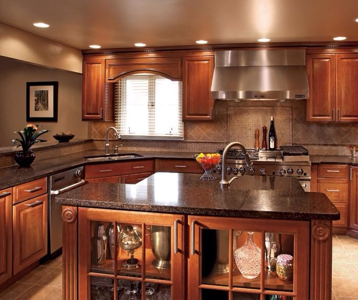 Best Love This Kitchen Cherry Wood Kitchen Cabinets Cherry 400 x 300