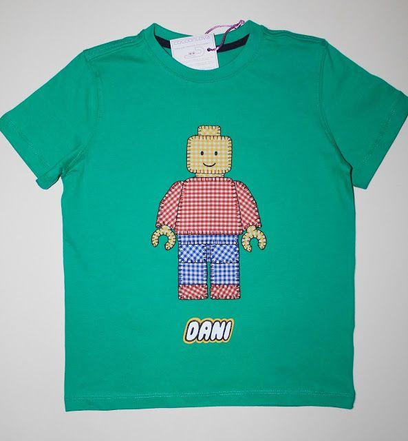 cocodriloca: conjunto lego  #camisetapersonalizada #lego #niños #hechoamano   camiseta-lego-personalizada