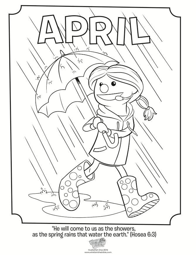 april coloring page hosea 68 - April Coloring Pages